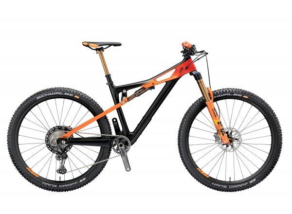Horské kolo KTM PROWLER 29 SONIC 12 2019 Black matt (orange+red glossy)