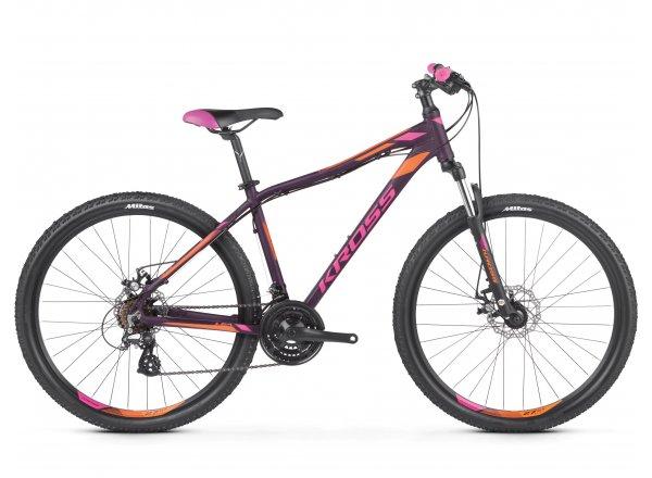 Dámské horské kolo KROSS Lea 3.0 27,5 2019 violet / pink / orange matte