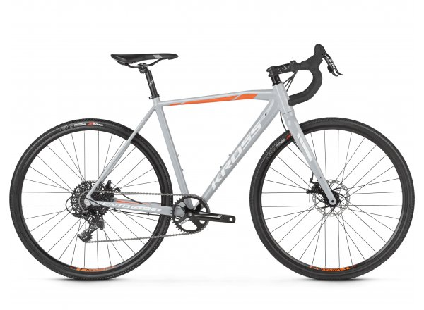 Cyklokrosové kolo KROSS Vento CX 2.0 2019 gray / white / orange glossy