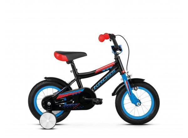 Dětské kolo KROSS Racer 2.0 12 2019 black / blue / red glossy