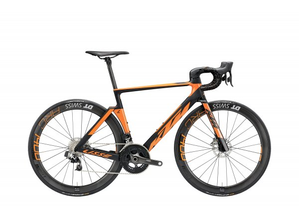 Silniční kolo KTM REVELATOR LISSE PRESTIGE 22 2019 Black matt (orange glossy)