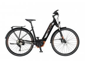 Elektrokolo KTM MACINA SPORT 10 PT CX US 2019 Black matt (white+grey+orange)