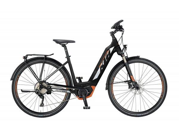 Elektrokolo KTM MACINA SPORT 10 PT CX US 2019 Black matt (white+grey+orange)