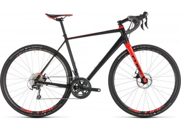 Gravel CUBE NUROAD Pro 2019 Black´n´red