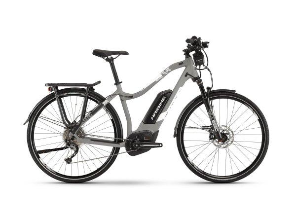 Dámské elektrokolo Haibike SDURO Trekking 3.5 500Wh 2019 grey/white/black matt