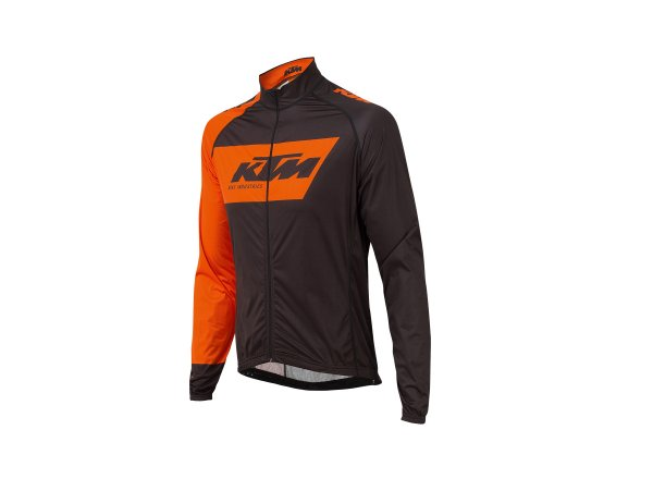 Cyklistická membránová bunda KTM Factory Team Wind 2019 Black/orange