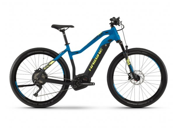 Dámské elektrokolo Haibike SDURO Cross 9.0 i500Wh 2019 black/blue/yellow matt