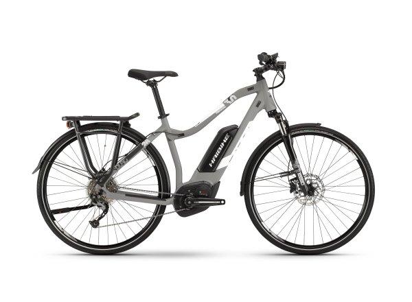 Dámské elektrokolo Haibike SDURO Trekking 3.0 500Wh 2019 grey/white/black matt