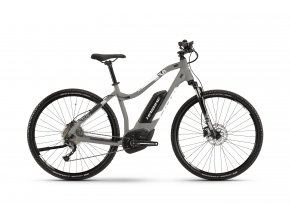 Dámské elektrokolo Haibike SDURO Cross 3.0 500Wh 2019 grey/white/black matt