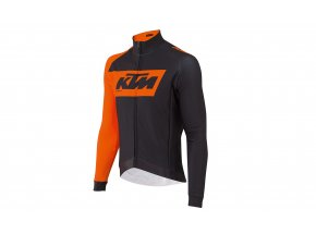 Cyklistický dres KTM Factory Team Winter Black/orange
