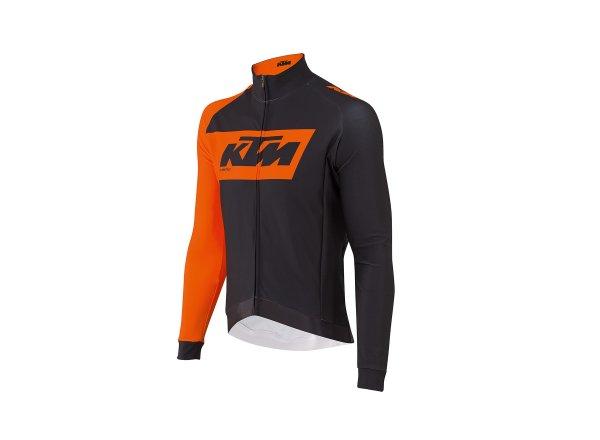 Cyklistický dres KTM Factory Team Winter Black/orange