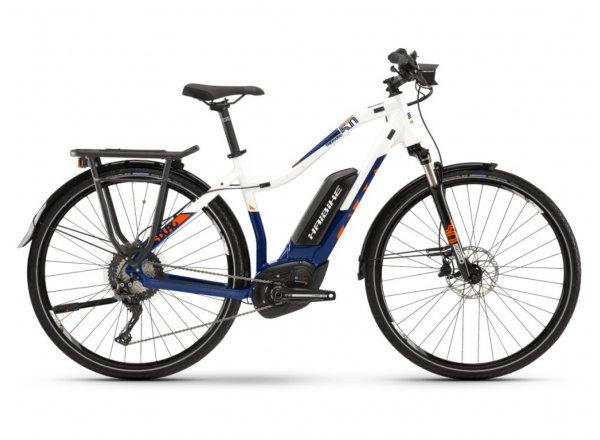 Dámské elektrokolo Haibike SDURO Trekking 5.0 500Wh 2019 blue/white/orange