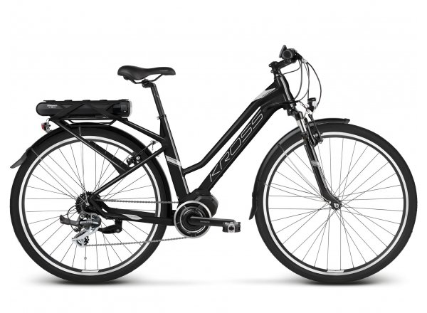 Dámské elektrokolo KROSS Trans Hybrid 2.0 2019 black / silver matte