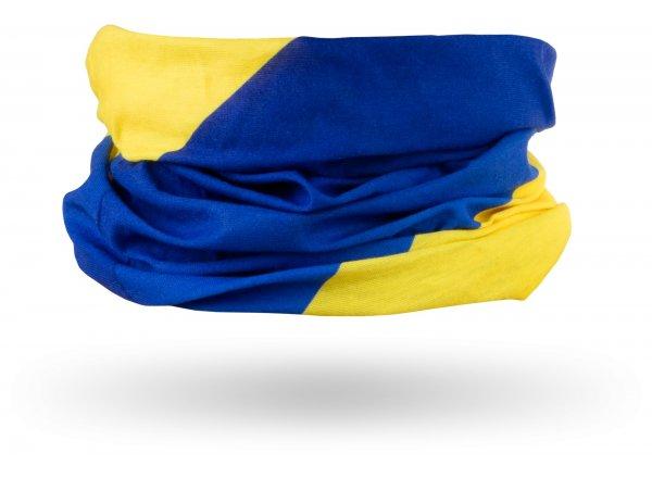 Multifukční šátek KROSS TUBE Yellow/blue