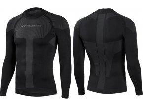 Funkční triko s dlouhým rukávem KROSS BASE TWO Black