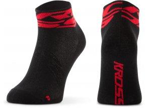 Ponožky KROSS RUBBLE LOW Black/red
