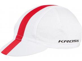 Cyklistická čepice KROSS CLASSIC White/Red
