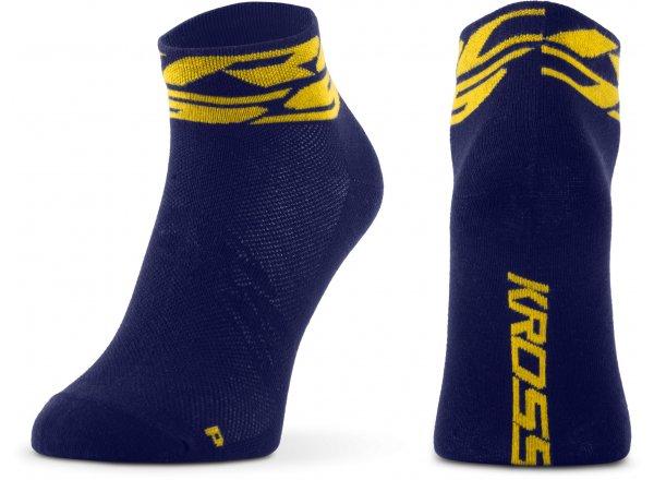 Ponožky KROSS RUBBLE LOW Blue/yellow