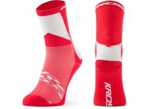 Ponožky KROSS PRO MID Red/white