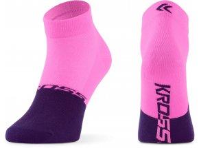 Ponožky KROSS ACTIVE LADY LOW Pink/violet