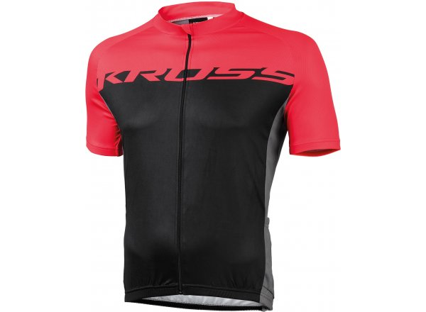 Cyklistický dres KROSS FLOW MEN Black/red