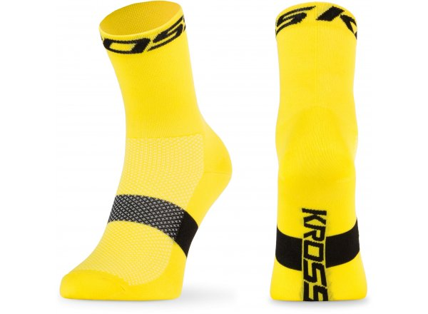 Ponožky KROSS PAVE MID Yellow