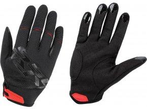 Cyklistické rukavice KROSS ENDURO ROCKER Black/red