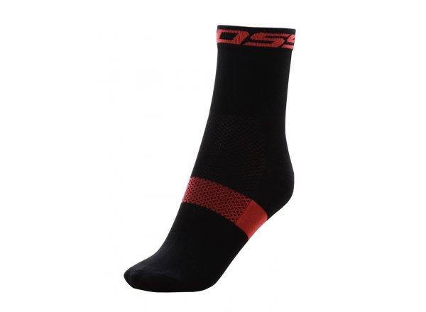Ponožky KROSS PAVE MID Black/red