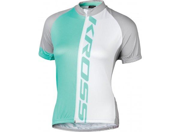 Dámský cyklistický dres KROSS FLOW LADY Azure/white