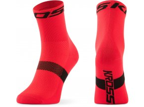 Ponožky KROSS PAVE MID Red