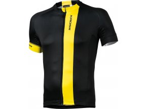 Cyklistický dres KROSS PAVE Black/yellow