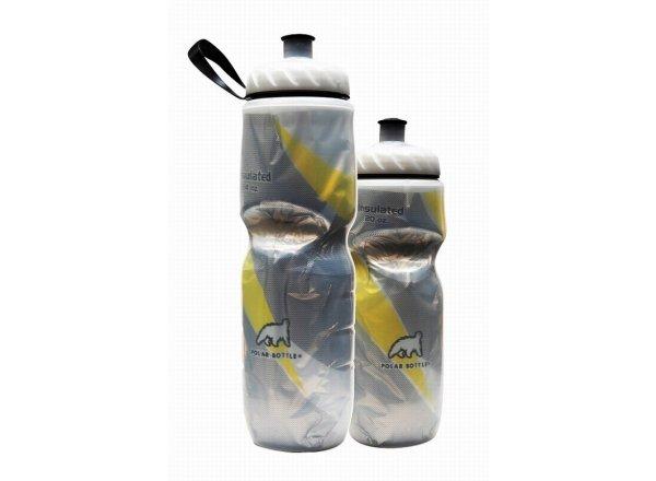 Cyklistická láhev POLAR BOTTLE Insulated 0,6l YELLOW STRIPE