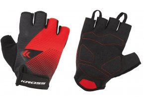 Cyklistické rukavice KROSS FLOW SF red/black
