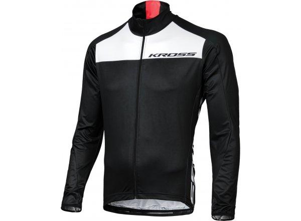 Zimní cyklistická bunda KROSS PRO TEAM Black/White/Red