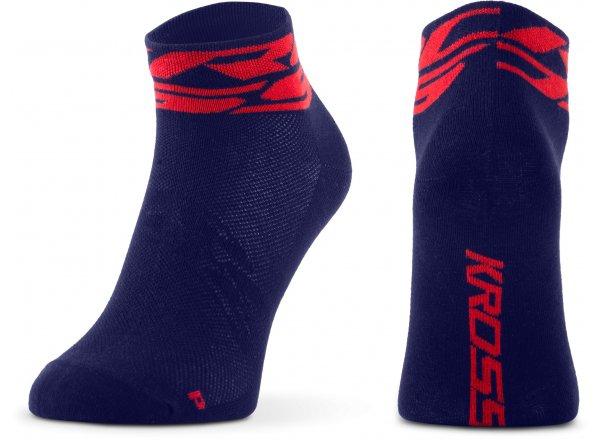 Ponožky KROSS RUBBLE LOW Blue/red