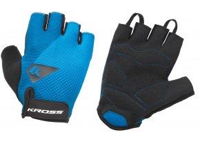 Cyklistické rukavice KROSS FLOW SF Blue