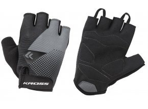 Cyklistické rukavice KROSS FLOW SF Black/grey