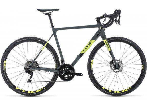 Cyklokrosové kolo CUBE CROSS RACE PRO 2020 Grey´n´flashyellow