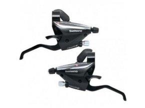 Řadící+brzdové páky Shimano ST-EF65 3X8 Black
