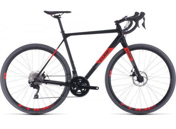 Cyklokrosové kolo CUBE CROSS RACE 2020 Black´n´red