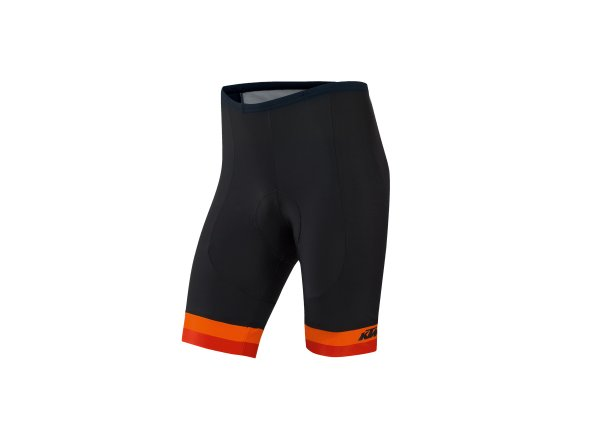 Cyklistické kraťasy KTM Factory Line bez laclu Black/orange