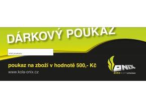 DÁRKOVÝ POUKAZ V HODNOTĚ 500,- Kč -