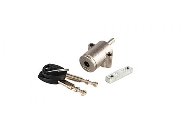 Zámek ABUS pro baterie PowerTube Silver