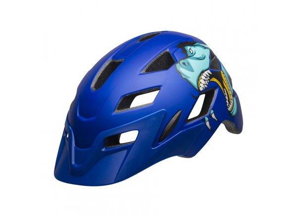 Dětská helma na kolo Bell Sidetrack Youth Mat Blue T-Rex