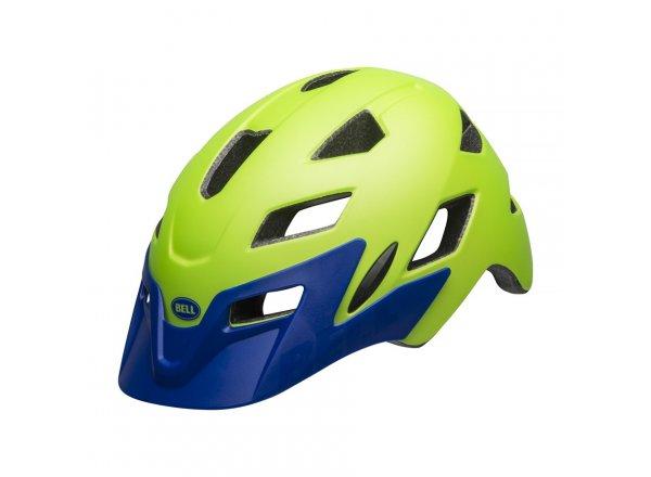 Dětská helma na kolo Bell Sidetrack Youth Mat Bright Green/Blue