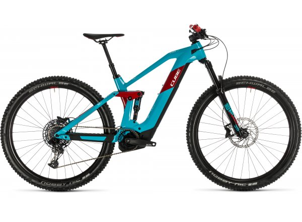 Elektrokolo CUBE STEREO HYBRID 140 HPC RACE 500 29 2020 Petrol´n´red