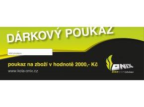 DÁRKOVÝ POUKAZ V HODNOTĚ 2000,- Kč -