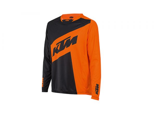Cyklistický dres KTM Factory ENDURO long Black/orange