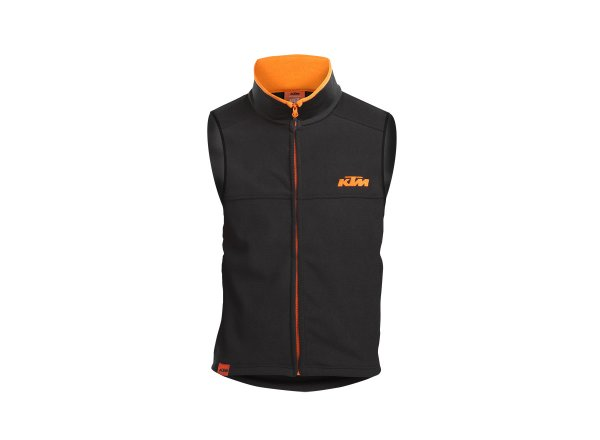 Fleecová vesta KTM Factory Team Work Vest Black/orange