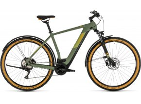 Elektrokolo CUBE CROSS HYBRID PRO 625 ALLROAD 2020 green´n´orange